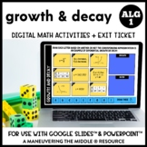 Exponential Growth and Decay Digital Math Activity
