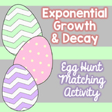 Exponential Growth and Decay Egg Hunt Match