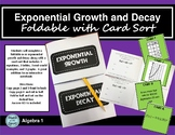 Exponential Growth and Decay Foldable With Card Sort