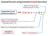 Exponential Growth and Decay Functions (Graph, Equation an