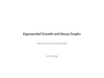 Exponential Growth and Decay Graph