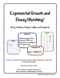 Exponential Growth and Decay Matching - Multiple Representations
