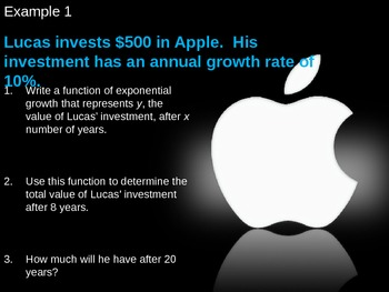 Exponential Growth and Decay PowerPoint Presentation - A11C