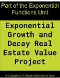 Exponential Growth and Decay Real Estate Value Project Using President's Houses