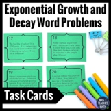 Exponential Growth and Decay Task Cards