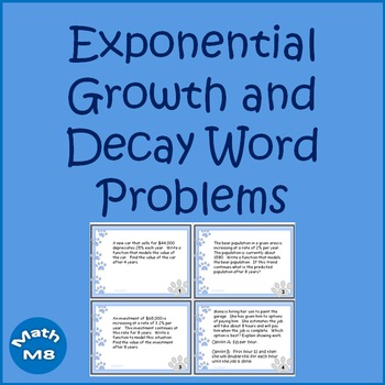 Exponential Growth And Decay Teaching Resources Teachers Pay Teachers