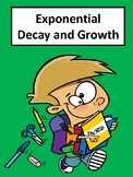 Exponential Growth and Decay No Prep Lesson