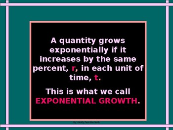 Exponential Growth in Algebra with GUIDED NOTES