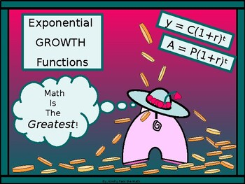 Algebra Power point:  Exponential Growth in Algebra with GUIDED NOTES