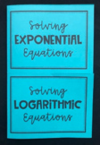 Exponential & Logarithmic Equations (Algebra 2 Foldable)