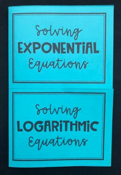 Exponential And Logarithmic Equations Teaching Resources Teachers