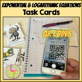 Exponential & Logarithmic Equations QR Codes Activity (Pre