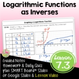 Algebra 2 Logarithmic Functions as Inverses