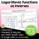 Logarithmic Functions as Inverses (Algebra 2 - Unit 7)
