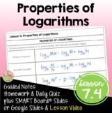 Properties of Logarithms (Algebra 2 - Unit 7)