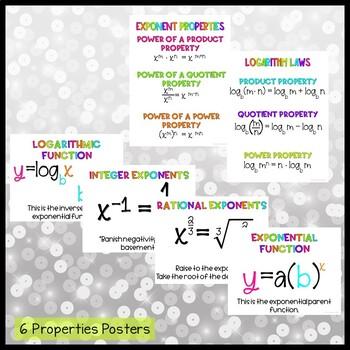 Algebra 2 Bulletin Board: Exponential & Logarithmic Functions