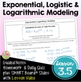Exponential and Logistic Modeling with Lesson Video (Unit 3)