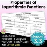 Properties of Logarithmic Functions (PreCalculus - Unit 3)