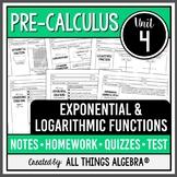 Exponential & Logarithmic Functions (Pre-Calculus Curriculum - Unit 4)