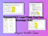 Exponential & Logarithmic Functions Scavenger Hunt