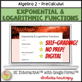 Exponential & Logarithmic Functions for Google Forms™ Dist