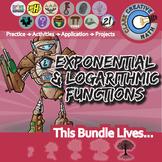 Exponential, Logistic & Logarithmic Functions - Algebra 2 Curriculum Unit Bundle