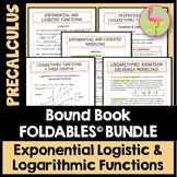 Exponential and Logarithmic Functions FOLDABLES™ (PreCalcu