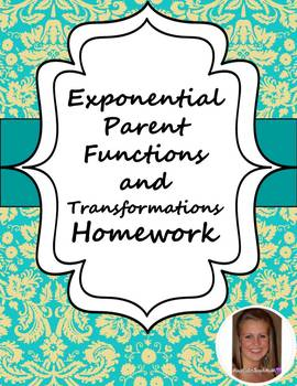 Exponential Parent Functions and Transformations Worksheet