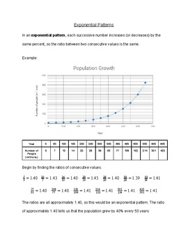 Exponential Patterns Handout