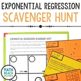 Exponential Regression Scavenger Hunt Activity