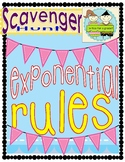 Laws of Exponents Scavenger Hunt Activity