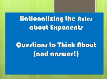Exponent Laws Tough Questions Review Powerpoint