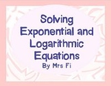 Exponential Functions Lesson 5 Exponential and Logarithmic Equations