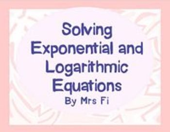 Exponential Functions Lesson 5 Exponential and Logarithmic