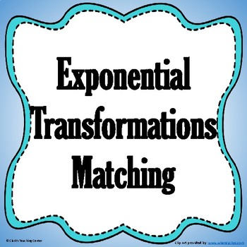 Exponential Translations Matching - Vertical and Horizontal Translations