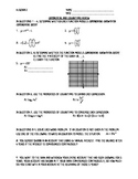 Exponential and Logarithm Review Worksheet or Quiz