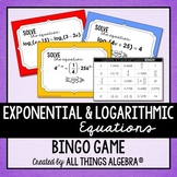 Exponential and Logarithmic Equations Bingo