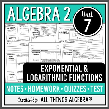 Exponential And Logarithmic Functions  Algebra 2