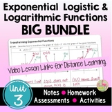 Exponential and Logarithmic Functions BIG Bundle with Less