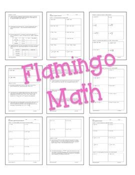 Algebra 2: Exponential and Logarithmic Functions Homework Bundle