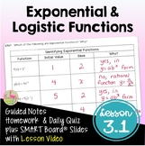 Exponential and Logistic Functions with Lesson Video (Unit 3)