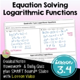 Logarithmic Equation Solving and Modeling (PreCalculus - Unit 3)
