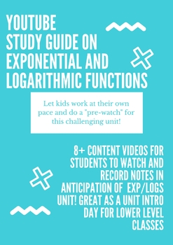Exponential and Logarithmic Functions Pre-Read!