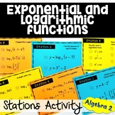 Exponential and Logarithmic Functions Stations Activity
