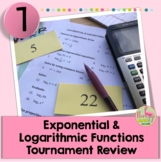 Exponential and Logarithmic Tournament Review Activity (Al