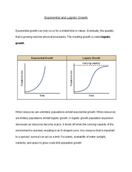Exponential and Logistical Growth Handout