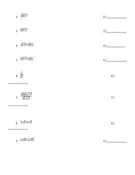 Exponential and Radical Unit Test