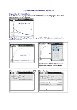 Exponential growth and decay modelling.