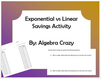 Exponential vs Linear Savings Problem
