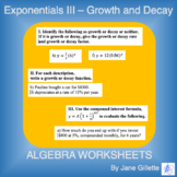 Exponentials III - Growth and Decay Basics